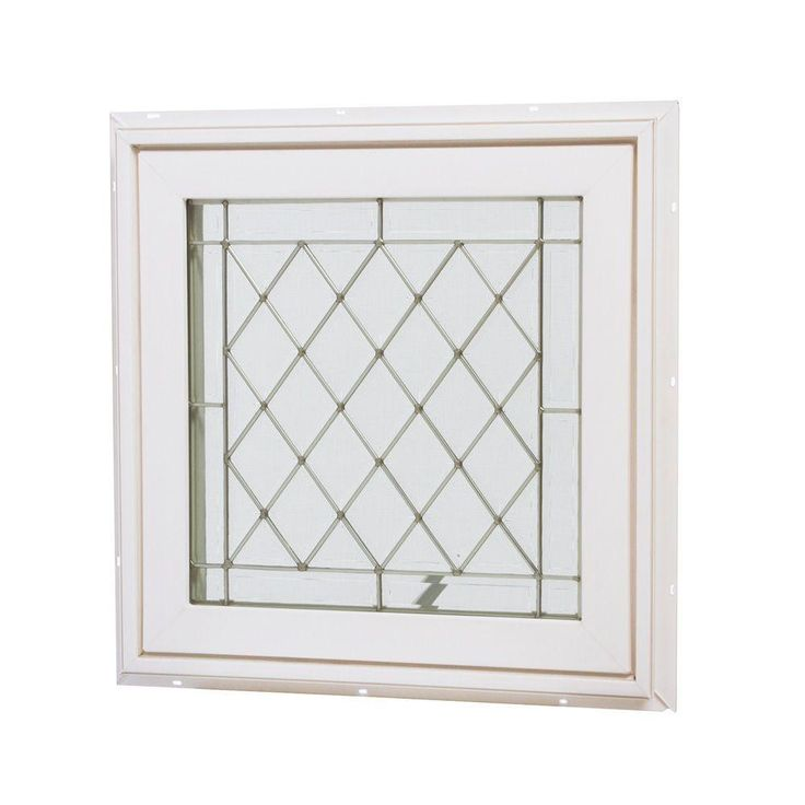 Tafco Windows 24 In X 24 In Awning Vinyl Window White Va2424bdg P The Home Depot Window Vinyl Vinyl Casement Windows Custom Glass