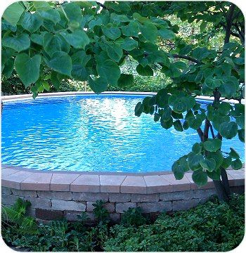 Above ground pool with deck - Don't have the space for a large pool? Here are some ideas on how to design and build the best small pools for small yards. I want one!!!
