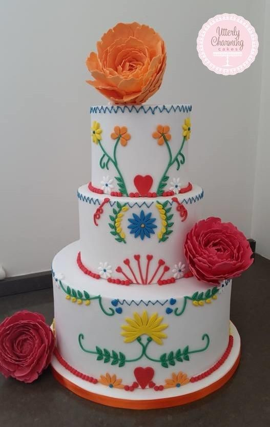 Mexican themed cake - Cake by  Utterly Charming Cakes