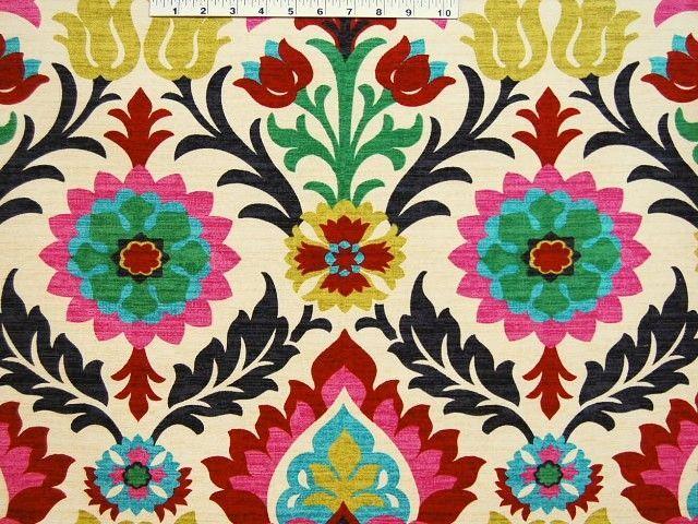 Bright Floral Fabric Fabrics Textiles Amp Patterns