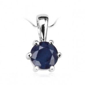 Srebrny wisiorek z szafirem - Biżuteria srebrna dla każdego tania w sklepie internetowym Silvea