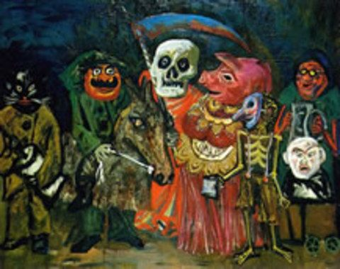 El carnaval de Juanito Laguna, 1960: Obra de Antonio Berni,