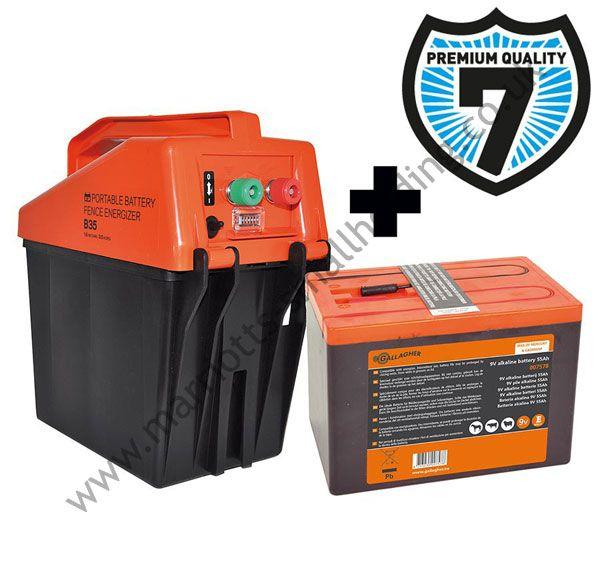 Gallagher B35 Battery Electric Fence Energiser 9v - £135.00 ex. VAT #Gallagher, #B35Battery, #Energiser