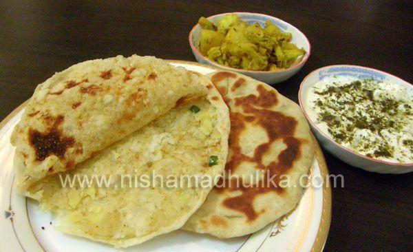 Stuffed Potato Naan/Aloo Naan Recipe - Vegetáriánus indiai receptek