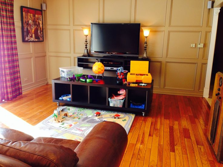 IKEA hack - Entertainment Center and children's play table