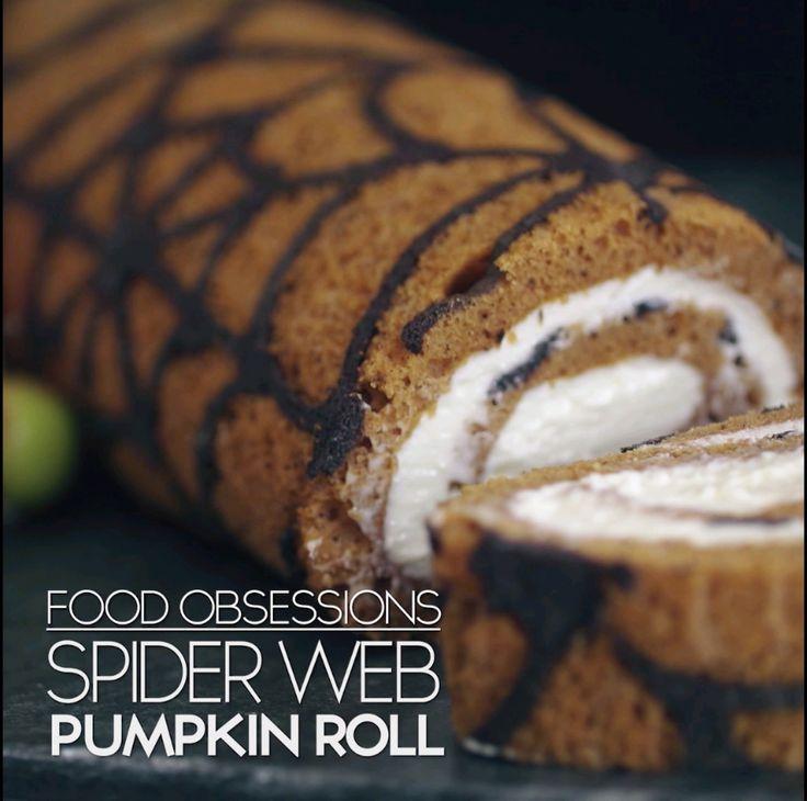 Spiderweb Pumpkin Roll