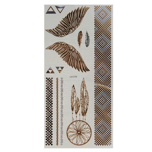Chain Wind Chime Metallic Temporary Tattoos Body Art Sticker   B985010 by Showy4you on Etsy