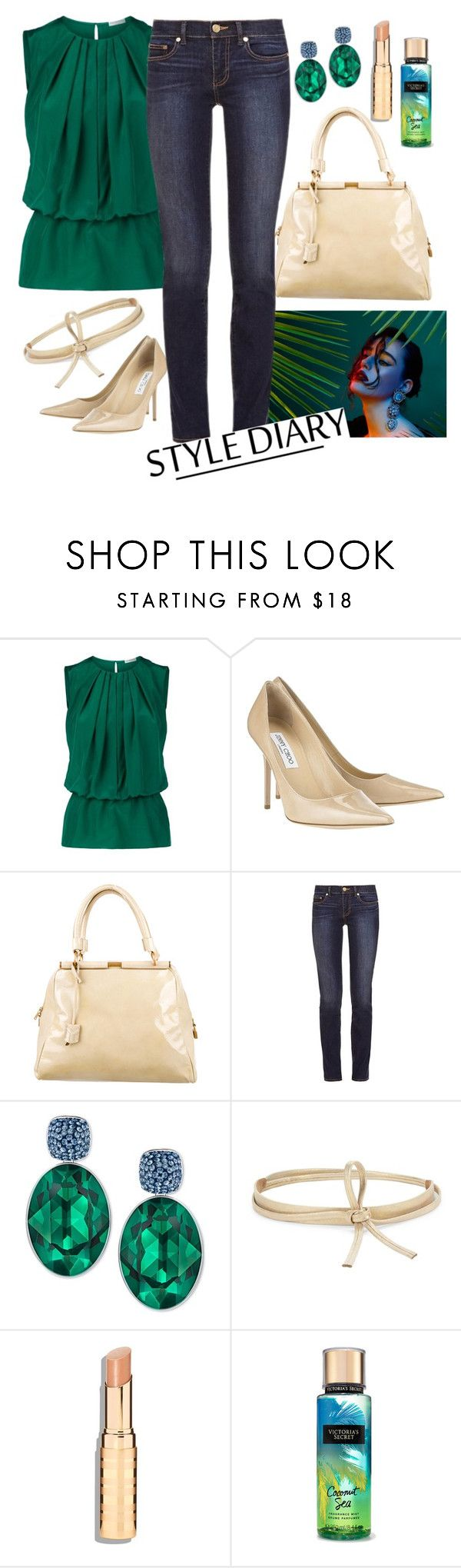 """drinks."" by la-chile ❤ liked on Polyvore featuring Emilio Pucci, Jimmy Choo, Yves Saint Laurent, Tory Burch, Swarovski and Ada"