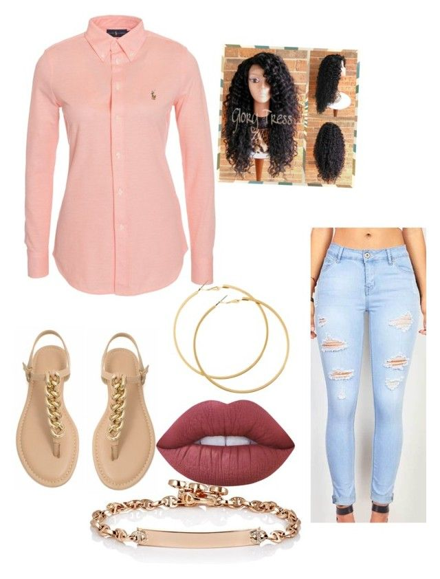 """"""""""" by naebewittit ❤ liked on Polyvore featuring Polo Ralph Lauren, Hoorsenbuhs, H&M and Lime Crime"""