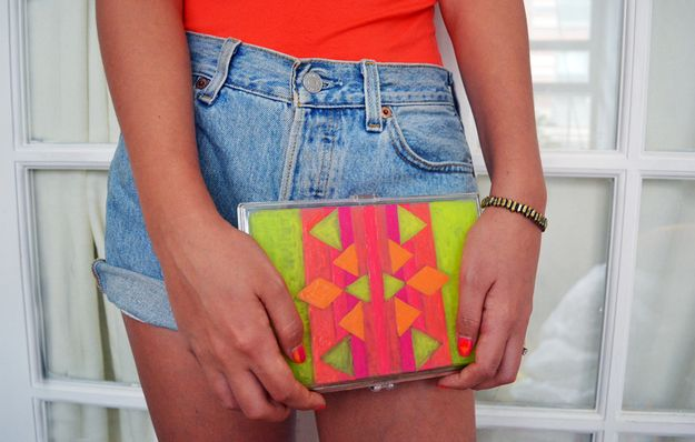 Two Ways To DIY A Neon Clutch