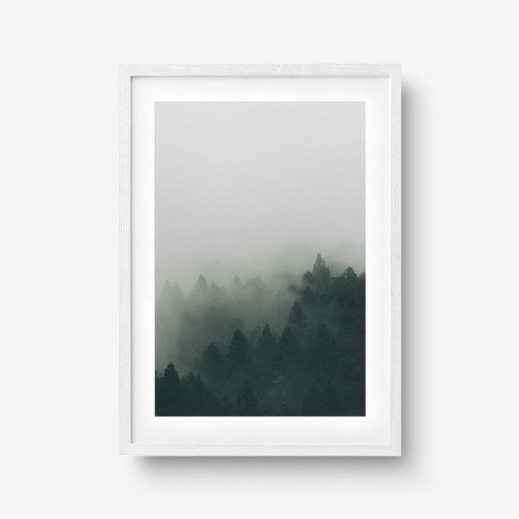Dark Foggy Forest Poster