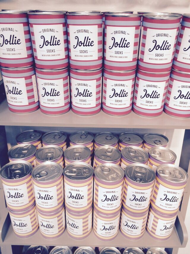 Socks galore!! The wonderful Jollie Goods donate socks to local homeless charities. Why get your socks from anywhere else?!