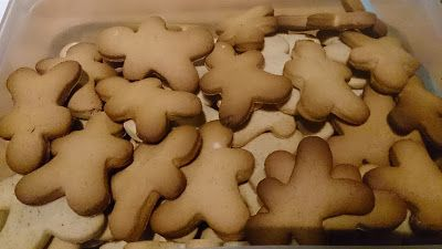 Le coin des gourmandes: Biscuits de Noël - bonshommes pain d'épices Adaptation de la recette du site ô délices pour les intolérants ou allergiques au lactose.