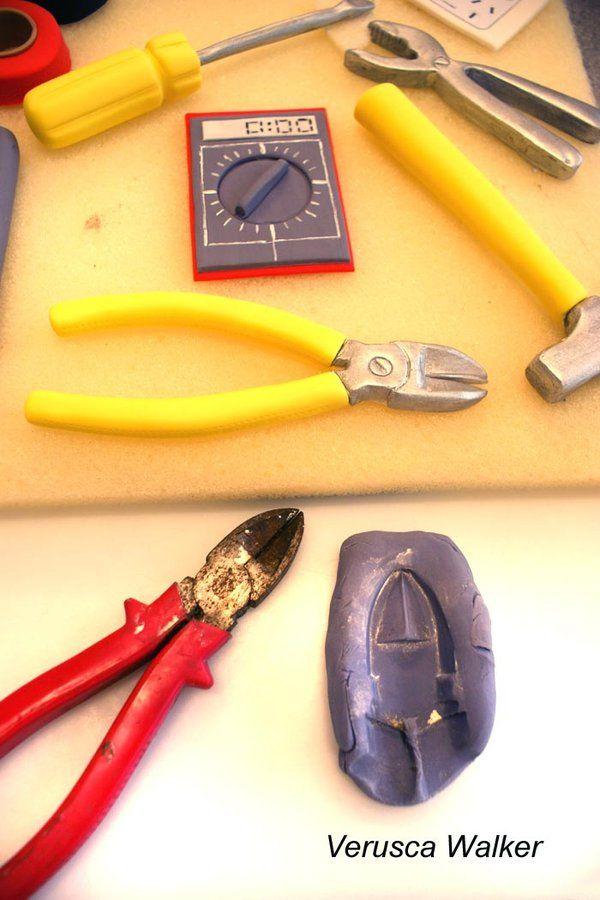 Making Fondant tools using real tools + leftover fondant + tylose