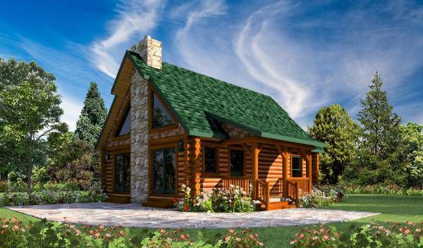 Blue Stone Cabin Home Plan By Golden Eagle Log Timber Homes Log Cabin Floor Plans Stone Cabin Cabin Floor Plans