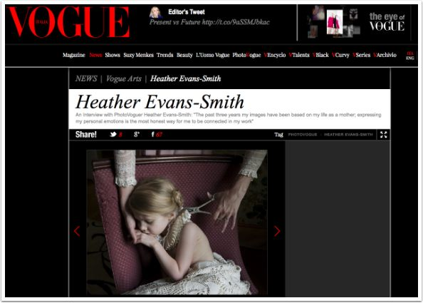 http://www.vogue.it/people-are-talking-about/vogue-arts/2015/04/heather-evans-smith My Latest Vogue Column Article Published with Photographer Heather Evans-Smith