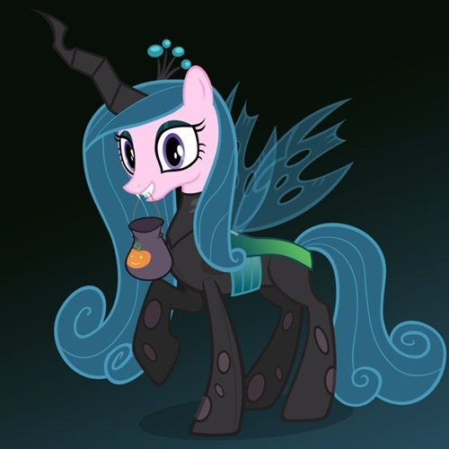 Too Soon?  Princess Cadence celebrating Nightmare Night