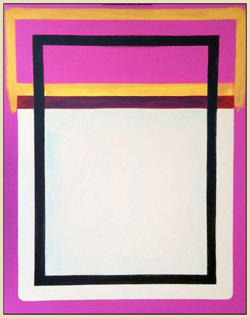 "Simply Formal #4, 2016 acrylic on canvas 60"" x 48"" ( 152.4 x 121.9cm)"