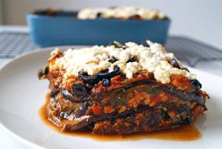 vegetarische aubergine lasagne