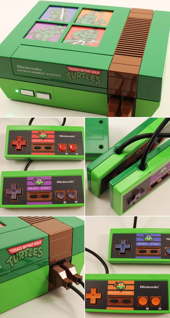 Think that classic Nintendo system you found at a garage sale is cool? It's got nothing on this customized, backlit Teenage Mutant Ninja Turtles-themed NES.