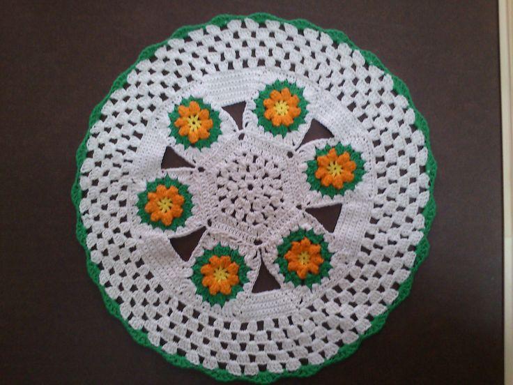 carpeta crochet con flor