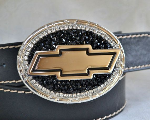 Ladies Chevy Belt Buckle Cowgirl Chevy Belt by CreativityAtPlay, $55.00