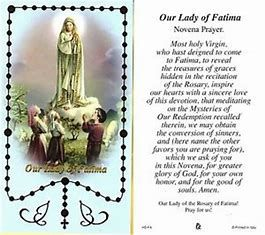 Image result for our lady of fatima prayer card