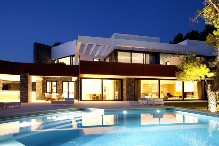 Greek Swimming Pool Luxury Housing Urban House Vacation