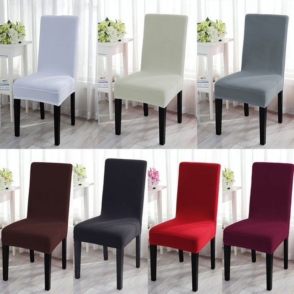 Sensational 2018 New Cushion Home Decora Dining Chair Covers Spandex Bralicious Painted Fabric Chair Ideas Braliciousco