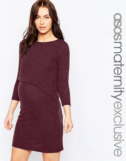 ASOS Maternity   ASOS Maternity NURSING Asymmetric Dress with Double Layer