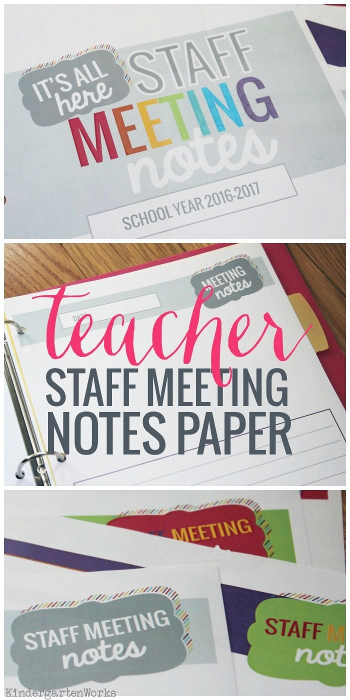 Staff Meeting Notes Paper Templates