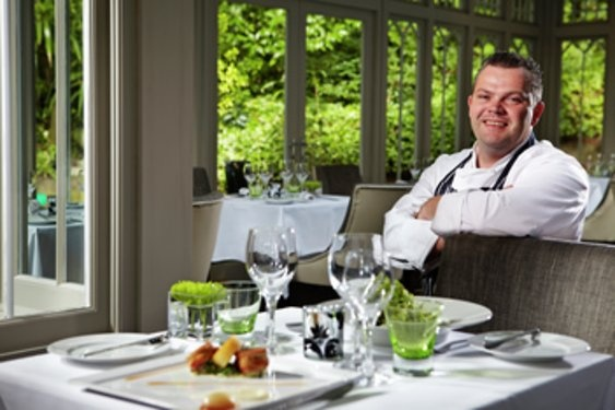 Executive Chef Luke Davis in RG's Restaurant at Rowhill Grange