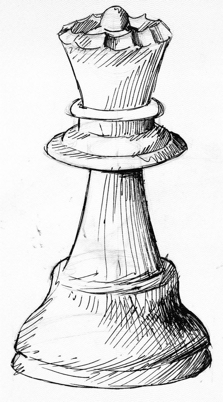 Line Drawing No Shading : Melhores ideias sobre xadrez tatuagem no pinterest