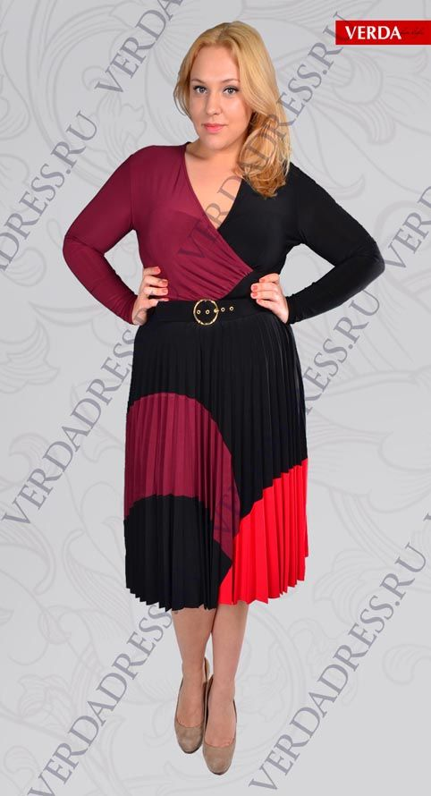 Стильные платья больших размеров от турецкого бренда Verda. Осень-зима 2012-2013