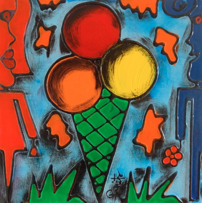 TENTAZIONI #09 - 40x40 cm. - Acrilic on canvas  #ICECREAM #TENTAZIONI #TEMPTATIONS