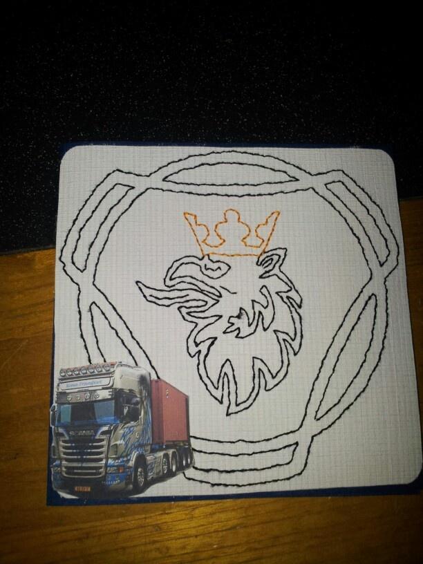Scania logo met mooie scania