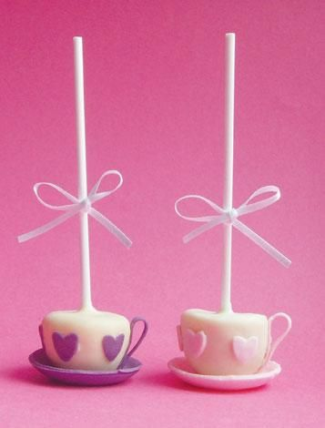 Teacup Pops for a Mad Hatter Tea Party by Pop Cake Kitchen