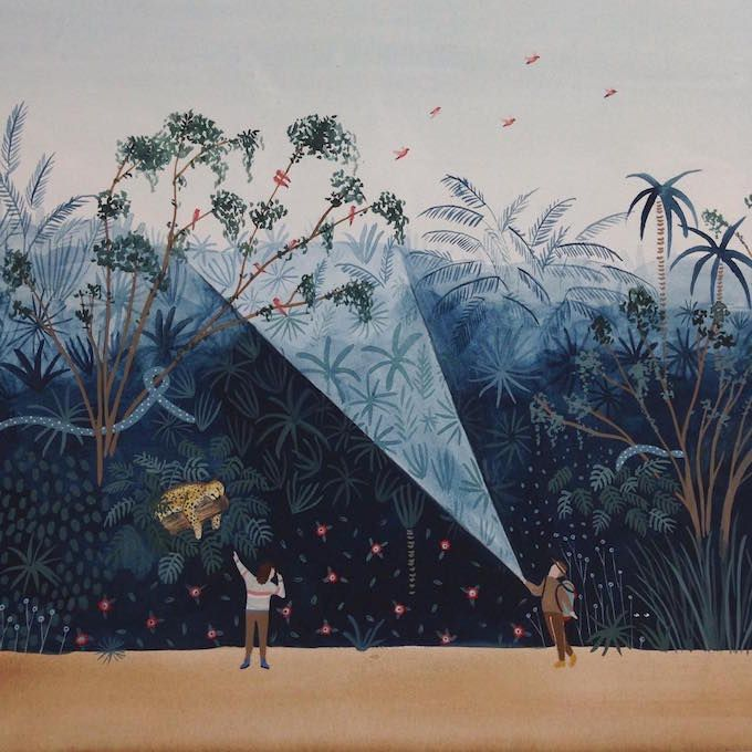 Painting by Miren Asiain Lora