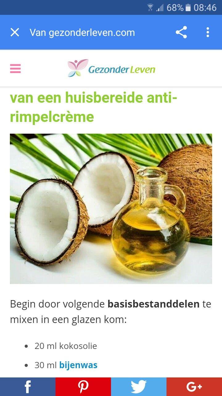 20 ml kokosolie 30 ml bijenwas  10 ml Rozenbottel olie 5 dr geranium essentiële olie 5 dr rozen essentiële olie
