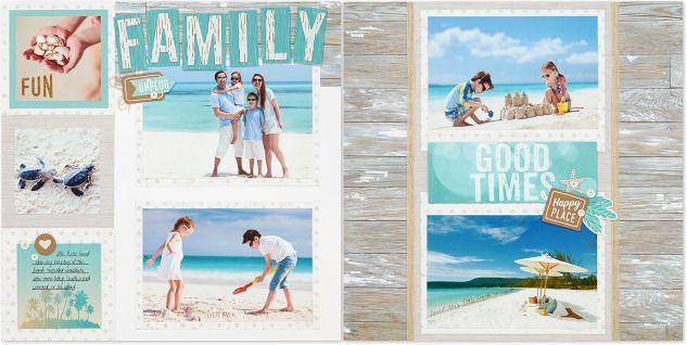 Vacation Scrapbook Album Inspiration #ctmh #closetomyheart #ctmhnoworries #scrapbook #vacation #patterns
