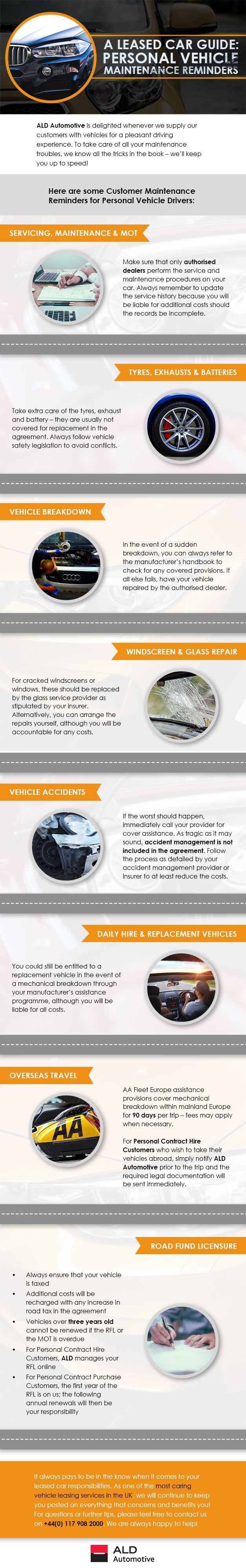 A Leased Car Guide: Personal Vehicle Maintenance Reminders