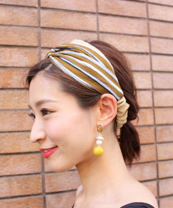 シンプルコーデが華やぐ ヘアバンド ターバン で 夏のおしゃれヘアを楽しもう カチューシャ ヘアアレンジ ヘア
