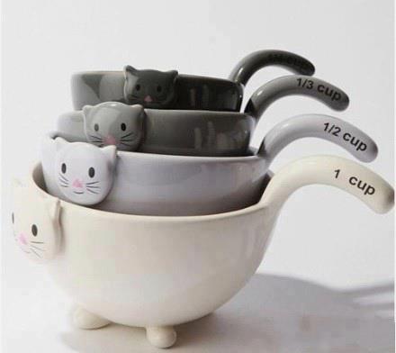 Cat cups for the kitchen