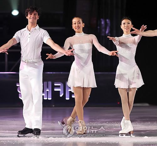 With Stephan Lambiel(Swiss) and Qing Pang(China)