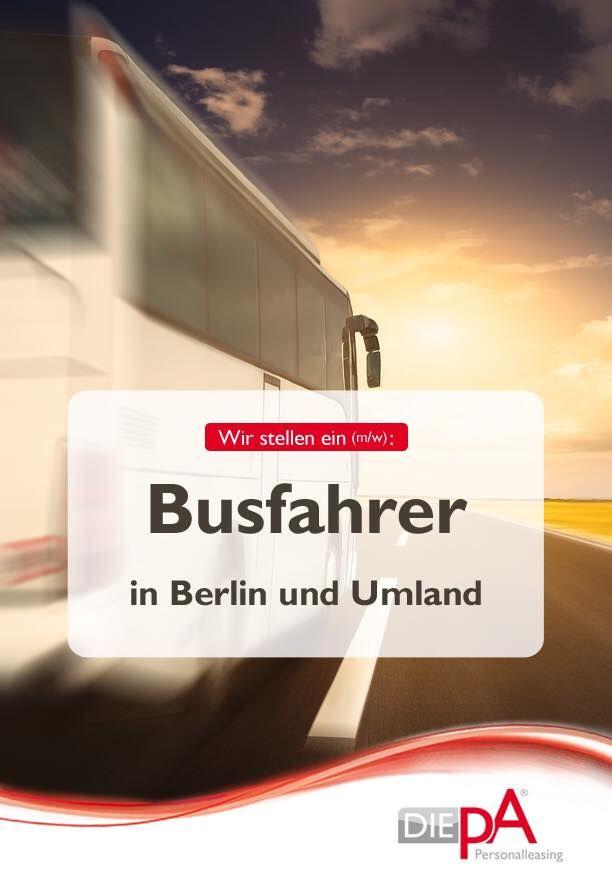 Chance ergreifen und noch heute bewerben. Per Mail an pschneider@die-pa.de oder über das Formular auf unserer Website:  #Busfahrer #Jobsuche #Berlin