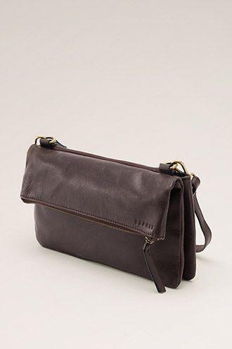 Esprit / fold-over leather clutch