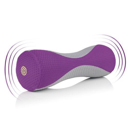 VITALmaxx-Rollo-para-masajes-con-Vibracion-Gris-Purpura-Fascia-Funcion-de