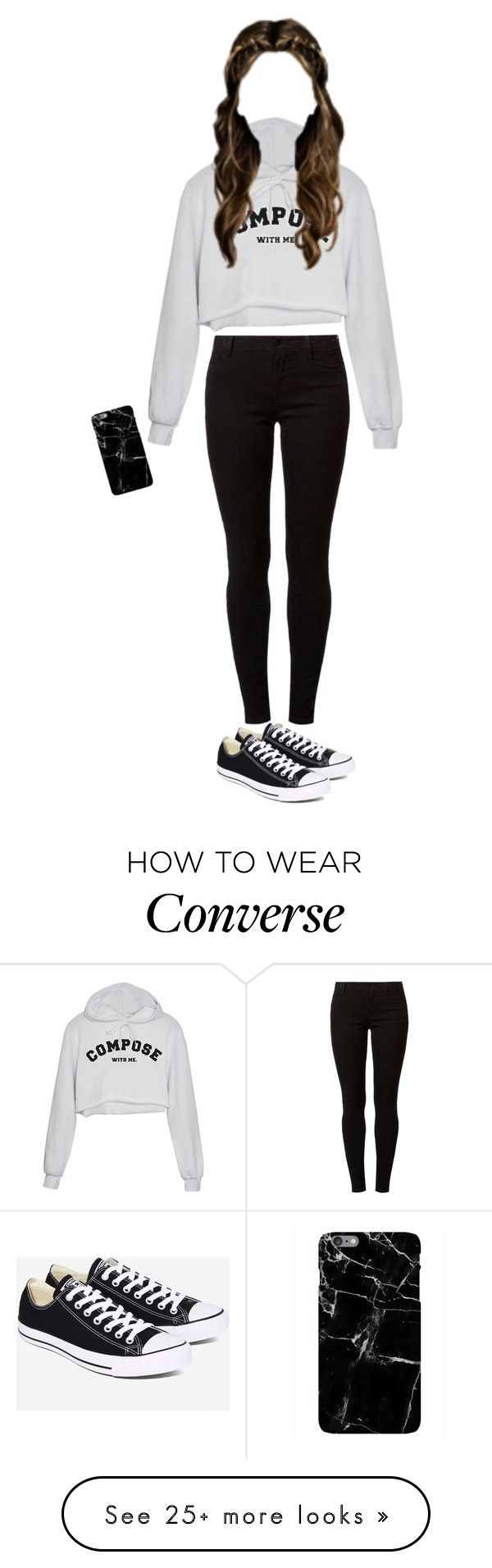 """#26"" by choi-mina on Polyvore featuring Dorothy Perkins and Converse"