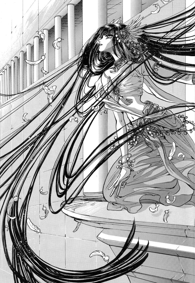 "Royal musician Lady Kendappa from ""RG Veda"" series by manga artist group CLAMP."