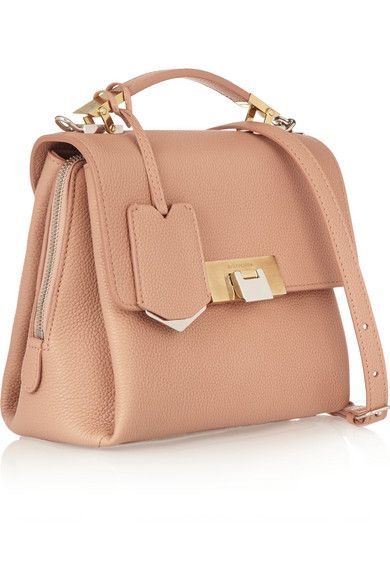Antique-rose textured-leather (Calf) Flip lock-fastening front flap  Desiger color: Rose Blush Comes with dust bag  Weighs approximately 0.9lbs/ 0.4kg Made in Italy As seen in THE EDIT magazine